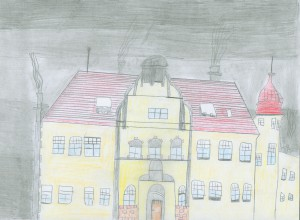 Erster Platz Gemalt von Joshua von Issendorf, Klasse 4b der Grundschule Wehberg