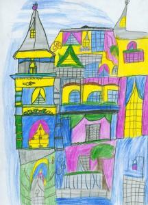 Zweiter Platz: Gemalt von Ayse Gökcen, Klasse 4b der Grundschule Gevelndorf