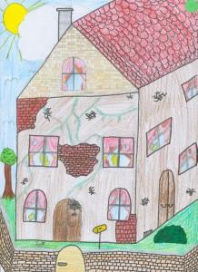 Dritter Platz: Gemalt von Laura-Marie Hülsmeyer, Klasse 3b der Grundschule Bierbaum